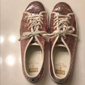 Kate Spade X Keds pink glitter shoes